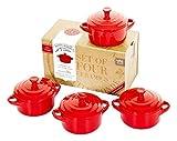 Petite Maison by Wildly Delicious cocotte set rosso (set da 4)