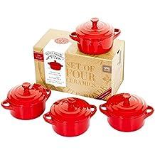 Set de 4 cazuelas Petite Maison by Wildly Delicious, color rojo