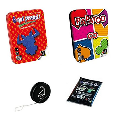 Lot de 2 Jeux Gigamic : 6 Qui Prend + PAPAYOO + Extension Vachement Bien + 1 YOYO BLUMIE