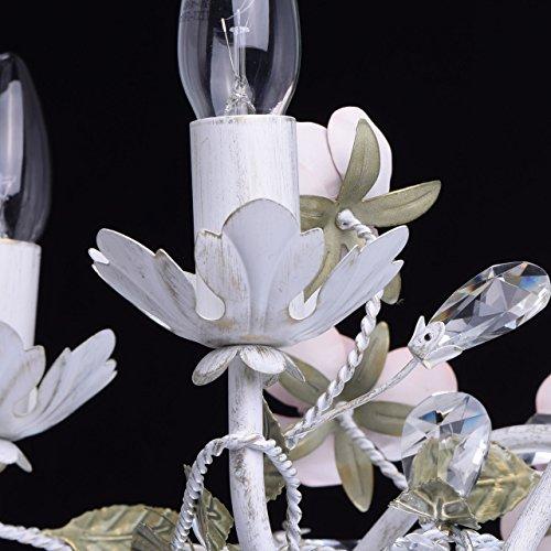 Florentiner Kronleuchter Chic-Stil Metall weiß - 7
