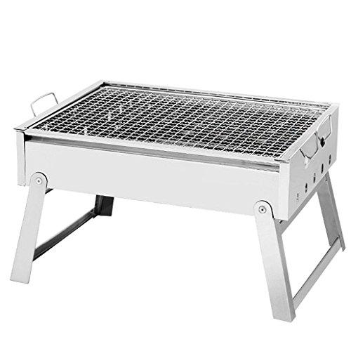 HomJo Barbacoa grill Acampar exterior inoxidable más grueso pedestal de acero plegable...