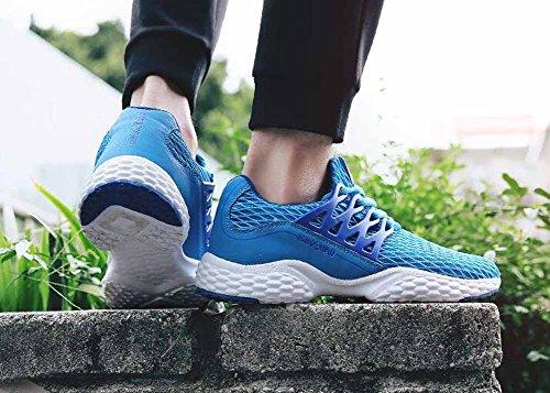 Uomini Casual Scarpe Atletiche Autunno Nuovi Studenti Sport Escursionismo Scarpe Sneakers Respirabili della Mesh Blue
