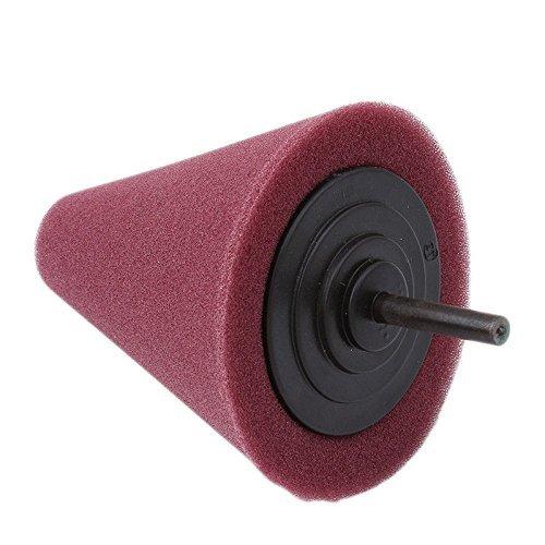 Detailers United Metall Cored Schaum Kegelförmige Polieren Pad für Alufelgen & Auspuff Tipps-Leistungsstarkes KFZ Reinigung Werkzeug für Verwendung mit einer Bohrmaschine -