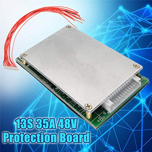 Fansport Scheda di Protezione Batteria 13S 35A 48V Scheda di Protezione PCB Parti Elettronich
