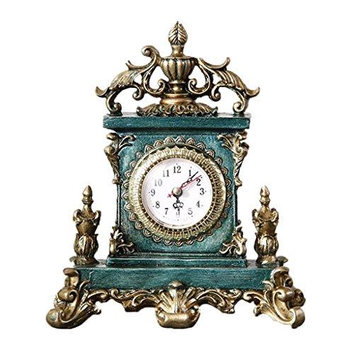 SESO UK- Europäische Rokoko Tisch Dekorative Uhr Kreative Non-Ticking Silent Resin Tischuhren für...