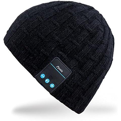 Rotibox- Bonnet Stereo Bluetooth - Bluetooth Bonnet termico con auricolare stereo integrati, microfono, a mano (Auricolari Mani Auricolare Kit Libero)