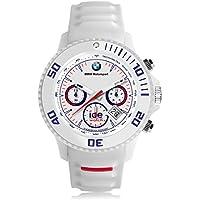 Ice Watch BMW Motorsport Chrono White Orologio da Polso, Quadrante da Uomo, Cinturino in Silicone, Bianco