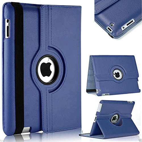 TGK 360 Degree Rotating Leather Case Cover Stand For iPad 4, iPad...