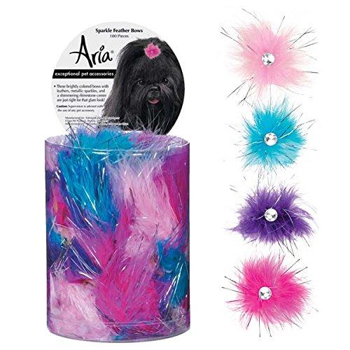 Artikelbild: Aria Sparkle Feather 100 Piece Bows for Dogs by Aria