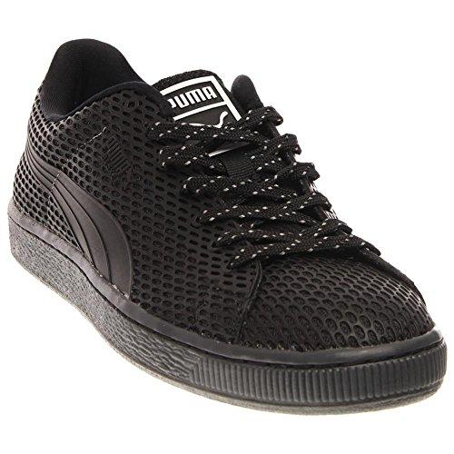 Puma Basket TPU Kurim Maschenweite Turnschuhe Dark Shadow-Black-White