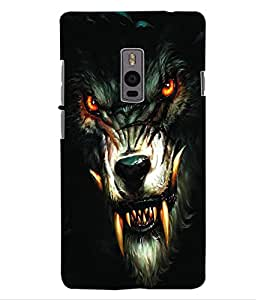ColourCraft Wolf Look Design Back Case Cover for ONEPLUS TWO