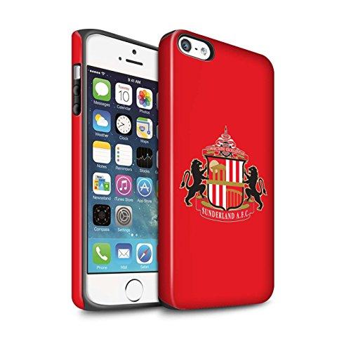 Offiziell Sunderland AFC Hülle / Matte Harten Stoßfest Case für Apple iPhone SE / Pack 6pcs Muster / SAFC Fußball Crest Kollektion Rot