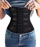 Bafully Waist Trainer Belt Body Shaper Girdle Waist Trimmer Lower Back Brace (Black, Large)