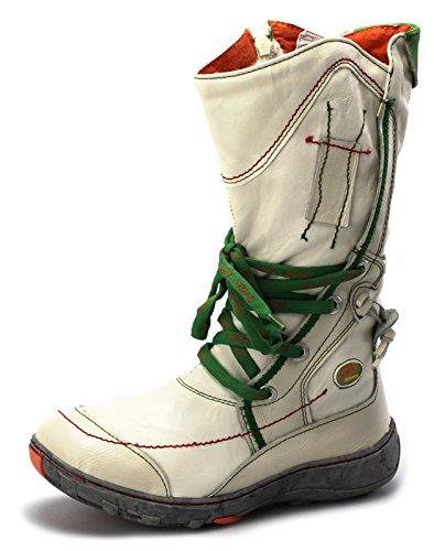 TMA Damen Winter Stiefel Boots Gefüttert Winterstiefel 1384 Weiß