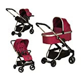 iCoo Acrobat XL Plus Trioset - Cochecito de paseo, color diamond ruby