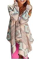 TOP-AK Damen Rosa Lose Lange Gestreift Sleeve Elegant Baumwolle Kimono Strickjacke Mantel Tops Cover Up Bluse