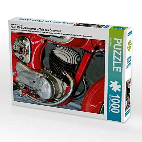 Preisvergleich Produktbild Ein Motiv aus dem Kalender Puch 250 SGS Motorrad - Oldie aus Österreich 1000 Teile Puzzle quer