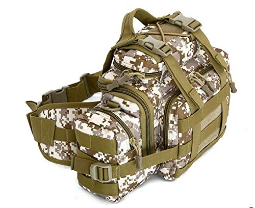 Zll/Armee Fan Outdoor Tasche Tactical Brust Tasche Taille Tasche Messenger Bag Herren 3P Magic Kamera Tasche mit Riding Big Taschen Beige