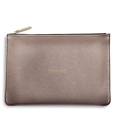 Katie Loxton Perfect Pouch Clutch Bag Metallic Rose Pewter - BE BRILLIANT