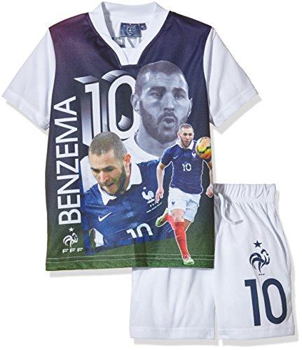 FFF EP1002 Benzema conjunto de piezas de 2-Camiseta de manga corta para niño, FR: 4 años (4Y) talla fabricante:
