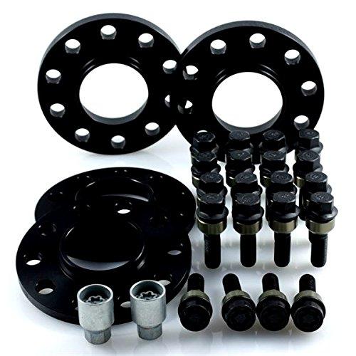 H&R TuningHeads 0437874.DK.B957161-14-23.996 ABE Spurverbreiterung Blackline, VA 28 mm/HA 46 mm + Radschrauben + Felgenschlösser