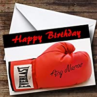 Signed Boxing Glove Personalised Birthday Card
