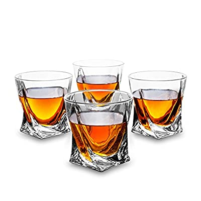 Kanars Twist 4er Set Whiskyglser Splmaschinentauglicher Whiskybecher Hochwertige Qualitt 300ml