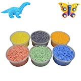 #3: AsianHobbyCrafts Foam Putty Pack of 6 Colors : For Modeling, Kids' Activities, DIY Crafts