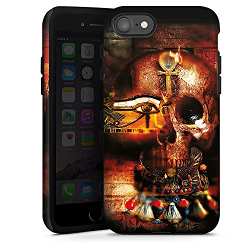 Apple iPhone X Silikon Hülle Case Schutzhülle Totenkopf Ägypten Symbol Tough Case glänzend