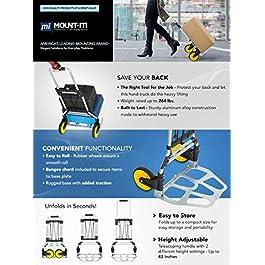 Mount-It! Folding Hand Truck Carrello Mano Pieghevole, Capacità 120 kg, Carrello Portabagagli Con Maniglia Telescopica e…