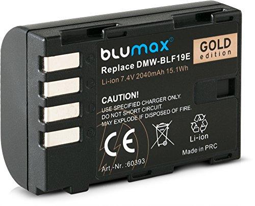 Blumax DMW-BLF19/DMW-BLF19E Akku 2040mAh 7,4V 15,1Wh Kompatibel mit Panasonic Lumix Kamera DC-GH5 DMC-GH3 DC-GH55 DC-G9/DMC-GH4 Ersatzakku