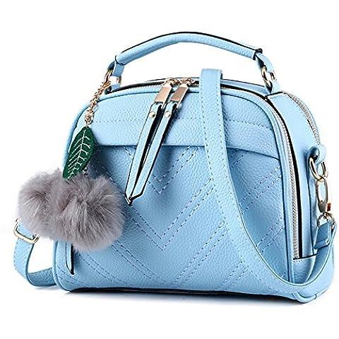 Aoibox da donna Piccola fragrante vento borsa croce corpo borsa a tracolla, Light Blue, Taglia unica