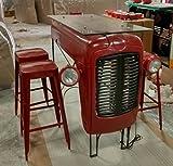 Tractor Bar tresen Bar Mesa Desayuno mostrador Rojo Tablero de cristal diseñador la Industria Industrial diseño