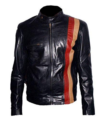 HNDs Cyclops Xmen Wolverine Faux Lederjacke Rot Gelb Riemen (S) Schwarz