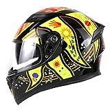 Casco moto universale a doppia lente da uomo, casco da moto invernale a prova di vento caldo, per quattro stagioni 57-64cm