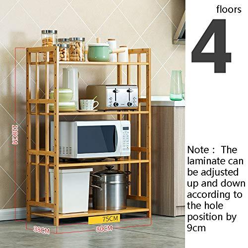 Kitchen furniture - Étagère-le stratifié peut être ajusté-multi-fonction support de stockage de four rack de stockage de bambou preuve de mildiou WXP (taille : 118 * 38 * 80cm)