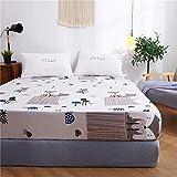 DUJUN Protector de colchón Impermeable, cubrecolchón Transpirable, antiácaros Hypo-allergénique, Eco Bambú Fibra,Juego de Limpieza A-8 180 * 200 * 23