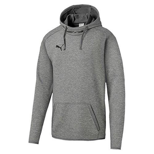 Puma Liga Casuals Hoody Sweatshirt, Hombre, Medium Gray Heather/Black, L