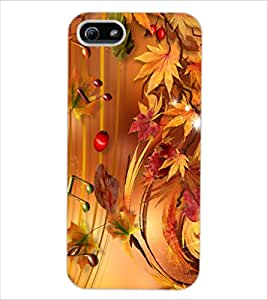 ColourCraft Beautiful Music Notes Design Back Case Cover for APPLE IPHONE 5S