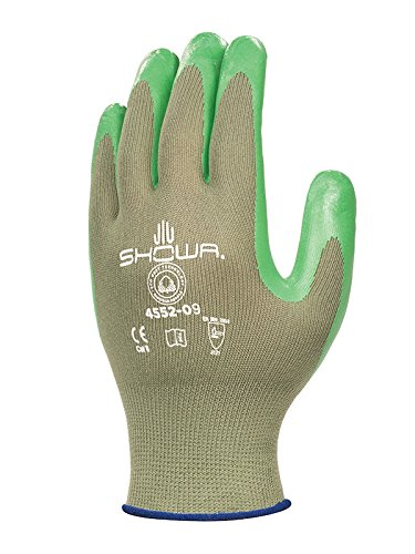 Showa Gants bst4552–06 Best 4552 biodégradables Gant, Taille : 06, vert (Lot de 2)