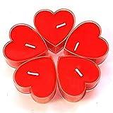 Ericoy 18 Teelicht Set romantische Liebe Herz Form Pudding Rauchfreie Duft Kerzen Schwimmkerzen