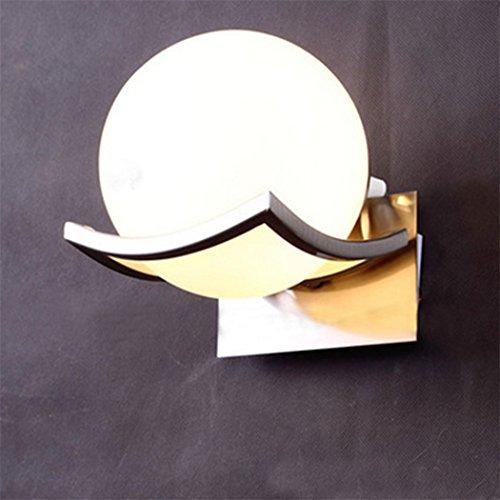 Egomall - Applique a LED, lampada da parete con sfera di vetro, per la casa
