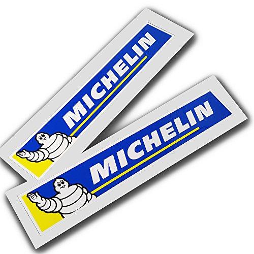 ! -Pegatinas para Coche o Moto, Diseño con Hombre Michelin, 2 Unidades