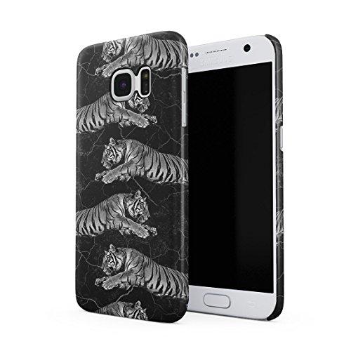 Jungle Katze Tiger Attack Pattern Cracked Schwarz Marmor Tumblr Dünne Rückschale aus Hartplastik für Samsung Galaxy S7 Handy Hülle Schutzhülle Slim Fit Case (Kit Cheetah Katze)