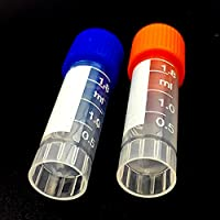 100pcs diplôme 1.8ml Tube de centrifugeuse Volume 2ml bouteilles en plastique avec bouchon à visser Transparent récipient Peut Legislate fioles