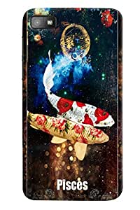 Omnam Sunsign Pieces With Fish Printed Designer Back Case For BlackBerry Z10