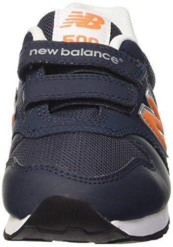 New Balance Unisex-Erwachsene Nbkv500bop Gymnastikschuhe Bleu (Navy Orange)
