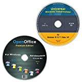 Universal Treiber-Meister CD/DVD für Windows 10 / 8 / 7 / Vista / XP (32 & 64 Bit) alle (PC & Laptop) Modelle + OpenOffice Premium Edition (2 DVD Spar-Set)