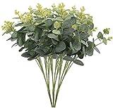 xiuer 3PCS Künstliche Eukalyptus Leaf Greenery Kunstpflanze Urlaub Hochzeit Home Dekoration Zubehör