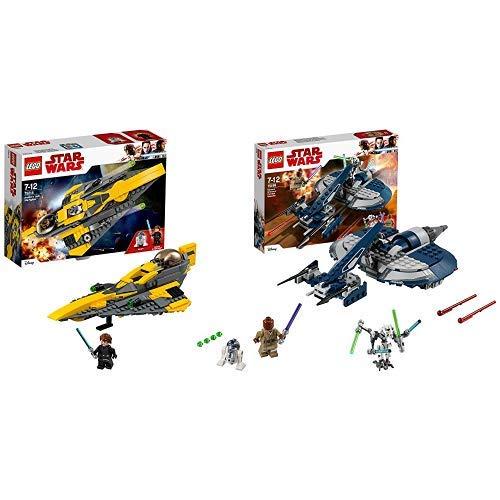 LEGO Star Wars Anakin's Jedi Starfighter (75214), Star Wars Spielzeug &  Star Wars 75199 - General Grievous Combat Speeder, Spielzeug Gleiter (Star Wars Lego-jedi Mit)